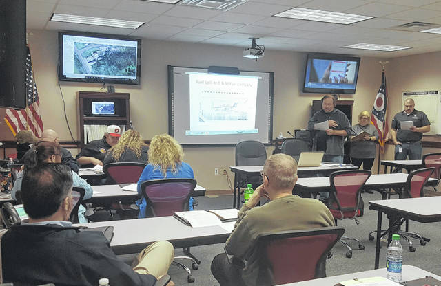 Representatives from several agencies took part in the table-top exercise on Thursday.