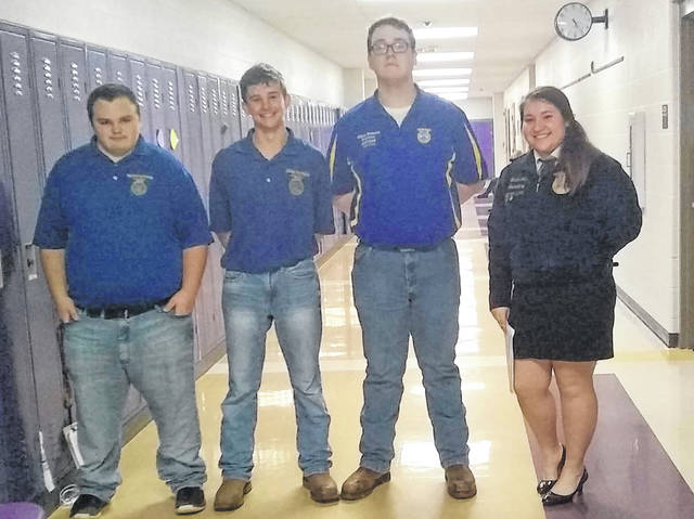 Racine Southern FFA members assisted contestants to their judging rooms.