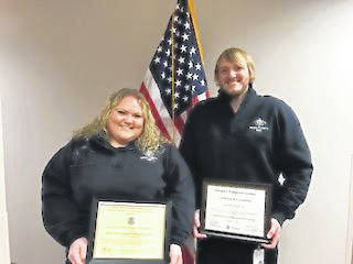 AEMT Sandi Smith and Dispatcher/EMT Seth Wells.