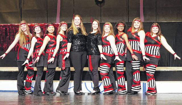 """PPJ/SHS students dressed in their show clothes for the Black Knight Revue song """"Come Alive."""""""
