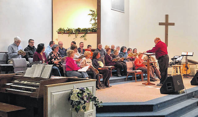 The Mason County Community Cantata members have been practicing up for their upcoming program set for the weekend of Palm Sunday.