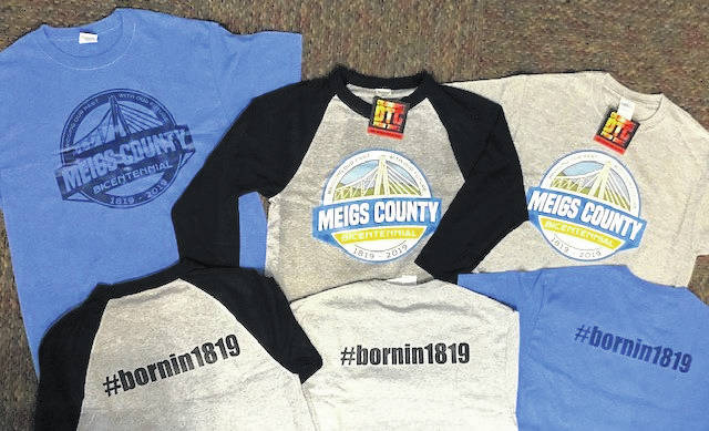 Shirts celebrating Meigs County's Bicentennial are now available at the Meigs County Courthouse.