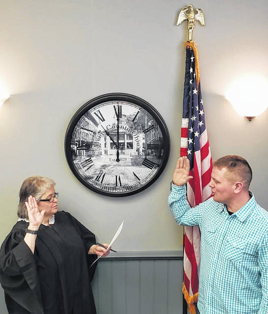 Jimmy Will was officially sworn in by Judge Linda Warner on March 14 to begin his term as Meigs County Commissioner. Will was recently appointed to fill the vacancy left by Mike Bartrum, who resigned at the end of February.