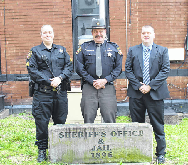 Sgt. Brandy King, Sheriff Keith Wood and Investigator Sgt. Frank Stewart