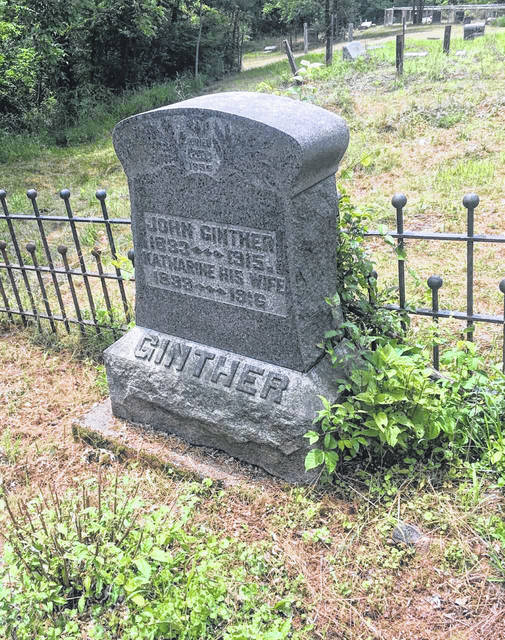 John and Katherine Ginther's grave at Brown Cemetery.