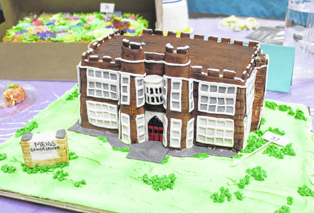 The Future Home of the Meigs County Council on Aging cake was made by Samantha Wolfe for the decorated cake division.