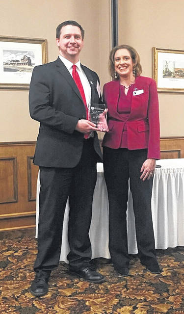 Meigs County Prosecuting Attorney James K. Stanley was presented the Community Service Award from the Ohio State Bar Foundation District 17 on Tuesday.