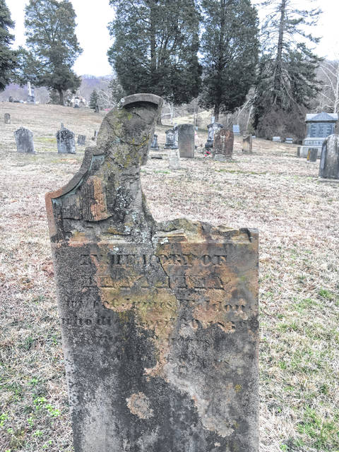 As part of the Ohio Local History Alliance regional meeting on Saturday, Jay Russell presented on preserving grave stones in local cemeteries.