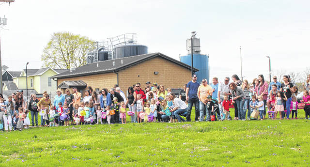 Dozens of children were lined up to take part in the Easter Egg Hunt on Saturday morning at the Racine Library.