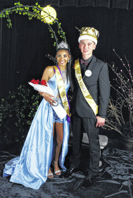 Jacynda Glover was crowned the 2019 Southern High School Prom Queen and Austin Baker was crowned the 2019 Southern High School Prom King during the school's prom on Saturday evening. The theme for the annual prom was Midnight Garden.