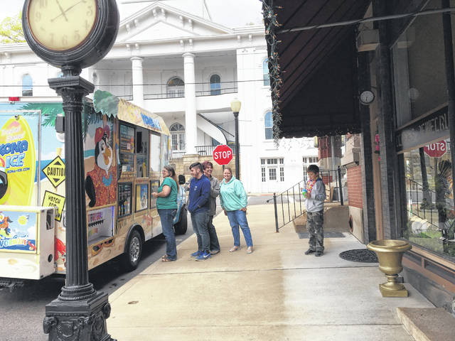 The Kona Ice truck made a stop in Pomeroy on Monday as part of the Tax Day Chill Out.