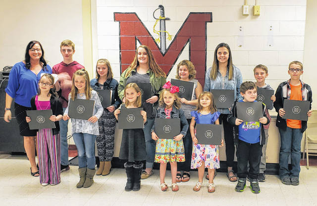 Meigs Local Students of the Month are pictured with Board Member Heather Hawley.