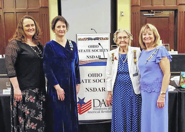 Tahnee Andrew, Gina Tillis, Mary Rose and Opal Grueser represented the Return Jonathan Meigs Chapter DAR at the OSDAR Conference.