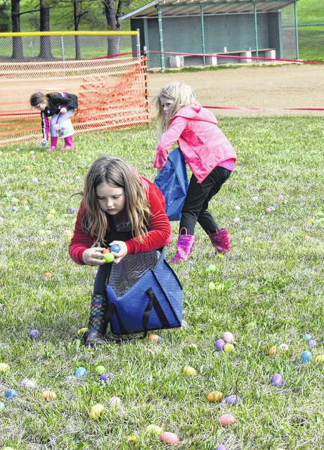 Kids of all ages were on the hunt Saturday at the annual Tuppers Plains Volunteer Fire Department Easter Egg Hunt.