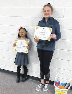 STORM Students of the Month recognized at the March meeting were Scarlett Ramirez and Lexi Grubb.