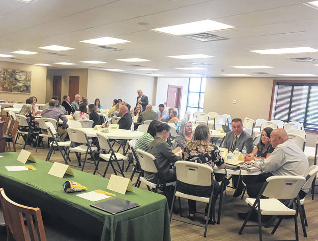 Teachers, administrators, business representatives and many others recently came together for a meeting about bridging the gap for students.