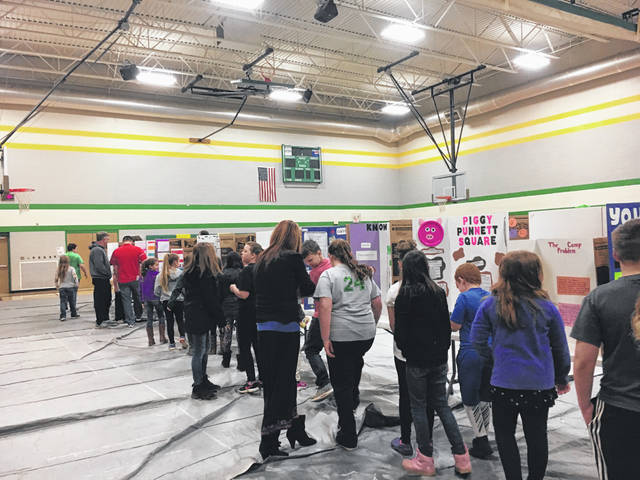 Students were able to view the math fair projects in the gymnasium on Thursday morning at Eastern Elementary.