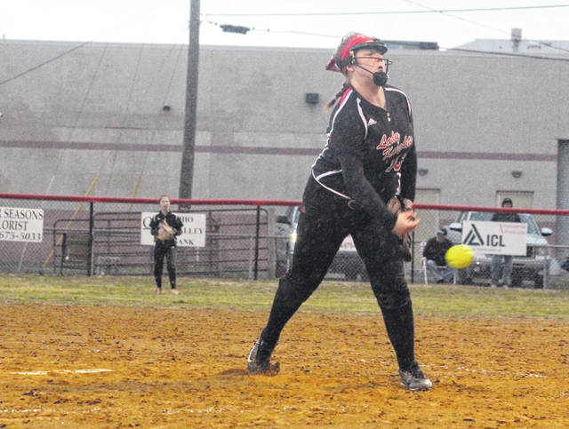 Point Pleasant freshman Kit Stroud delivers a pitch during a March 22 softball contest against Parkersburg South in Point Pleasant, W.Va.
