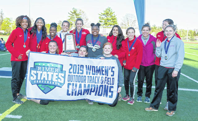 The University of Rio Grande women's track & field team overcame a 23.5-point deficit entering Friday's final event to capture the River States Conference championship at Eaton High School.