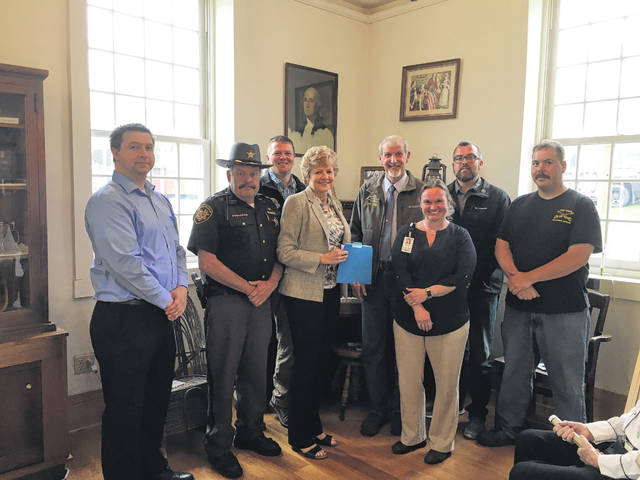"The Meigs County Commissioners President Tim Ihle, Randy Smith, and Jimmy Will recently presented and approved a proclamation at a recently held meeting recognizing ""First Responder Week of Appreciation"" in Meigs County."