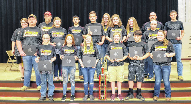 Members of the Meigs Middle School Archery team were recognized by the Meigs Local Board of Education during last week's meeting.