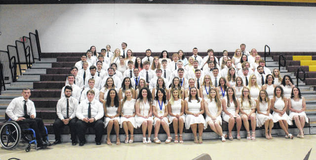 Graduates in the Meigs High School Class of 2019 received more than $1.2 million in scholarships on Wednesday morning. Pictured are all of the scholarship and award recipients.