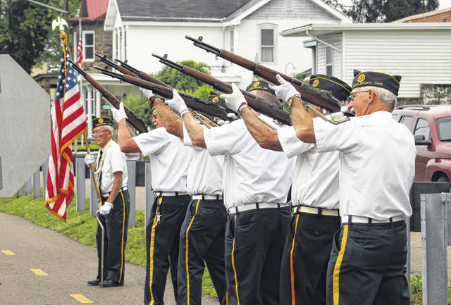 Feeney Bennett American Legion Post 128 of Middleport conducted a Memorial Day ceremony on Monday morning which included a gun salute.
