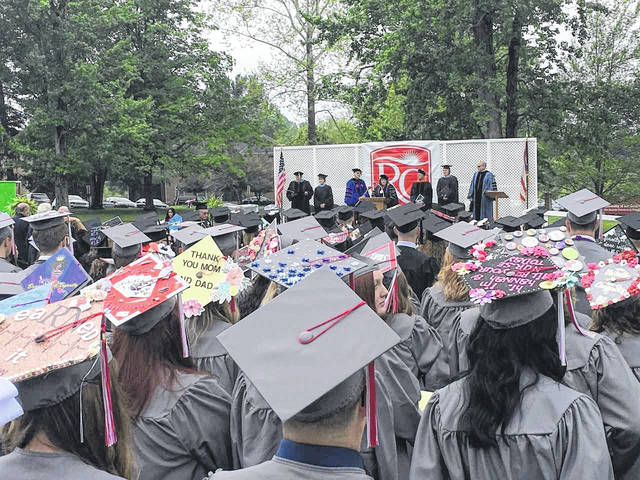 Pictured are some of the 357 students receiving their degrees Saturday during the 143rd Commencement Ceremony at the University of Rio Grande and Rio Grande Community College.