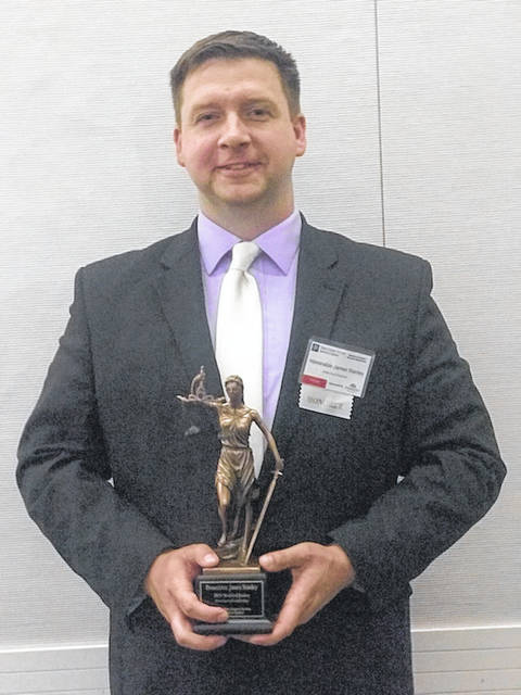 Meigs County Prosecutor James K. Stanley recently received the Model of Justice Award for Prosecutorial Leadership.