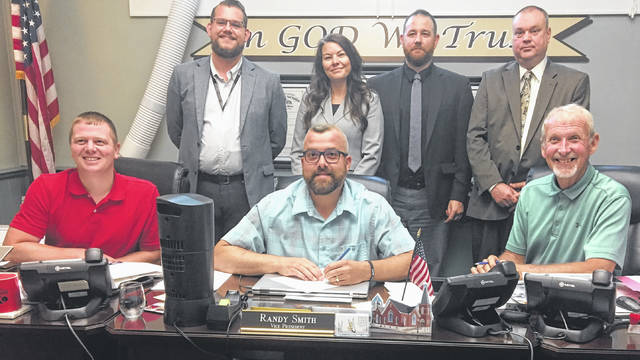 Representatives from the 2020 Census are pictured with the Meigs County Commissioners. Pictured are (back, left to right) Samuel Knight, Amber Kohler, Aaron Dagres, Meigs County Community Complete Count committee chairperson Chris Shank, (front, left to right) Commissioners Jimmy Will, Randy Smith, and Tim Ihle.