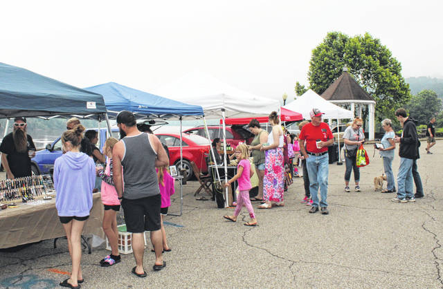 The Meigs County Farmers' Market held a it's first market day on Saturday on the Pomeroy parking lot.