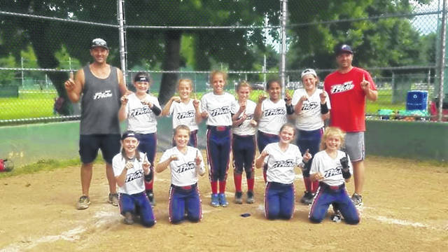 MOV Pride 08 Ohio 10U softball won the Jason Reed Autism USA Ring Event Tournament in Athens last weekend, going 5-0 while outscoring their opponents by a score of 78-7. The team is now 32-9-1 overall, including a 23-3-1 mark against other Ohio teams. Team members are Aedre Ault, Bella Roush, Ava Horn, Abby Bowen, Ashlynn Thomas, Rylie White, Alie Hysell, Jaynna Wright, Jaylynn Hupp, Taylor Roberts, and Chloe Patrick. THe team is coached by Ty Ault and Collin Roush.