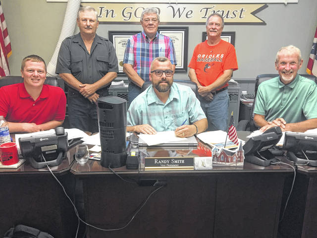 Meigs County Commissioners Tim Ihle, Randy Smith, and Jimmy Will are pictured with CSHA member Jim Smith, CSHA President Dan Will, and CSHA member Greg Bailey after issuing a proclamation in support of the Treasure Hunt at a recent meeting.