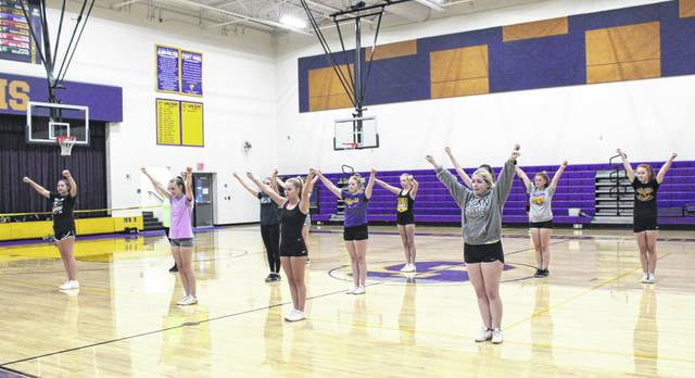 Cheerleaders from Meigs and Southern recently came together for a cheer camp as they prepare of the 2019-20 season.