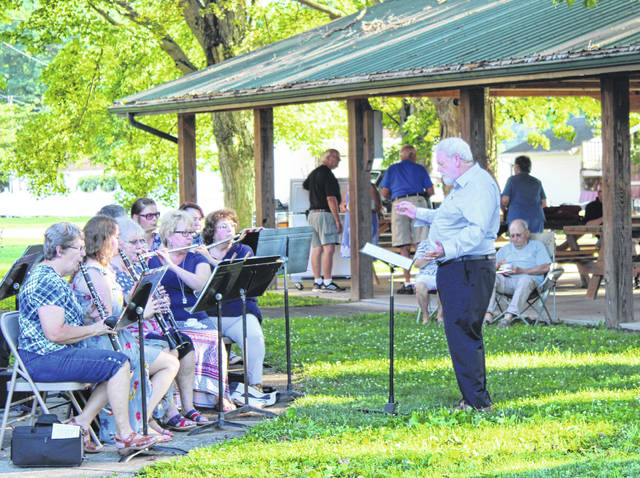 The Meigs County Community Band, under the direction of Toney Dingess, recently performed a concert at the Syracuse Community Center in conjunction with the Community Center's Ice Cream Social.