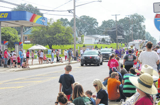 The Racine Police Department led the parade through town on Thursday morning as those of all ages gathered to celebrate Independence Day.