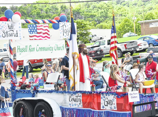 The Hysell Run Community Church was among the participants in the parade on Saturday in Rutland.