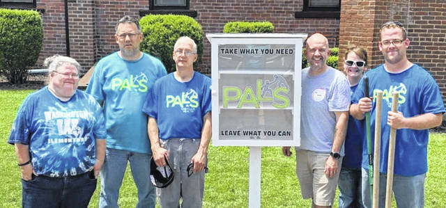 PALS Gallia County now has a Blessing Box located at Saint Peter's Episcopal Church In Gallipolis. If you are in need or want to donate an item you feel will be a blessing to someone else, stop by anytime. From left to right are Christina Cogar, Nick Esquivel, DJ Sargent, Saint Peter's Episcopal Church's Priest AJ Stack, Shelly Hatfield, Caleb Patterson.