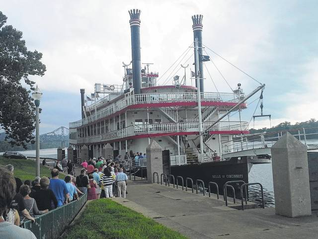 The Belle of Cincinnati will be in Point Pleasant on July 29 for the annual dinner cruise held by the Point Pleasant River Museum and Learning Center and will be in Gallipolis, Ohio on July 30 for various cruises including a lunch cruise, a sight-seeing cruise, and a dinner cruise.
