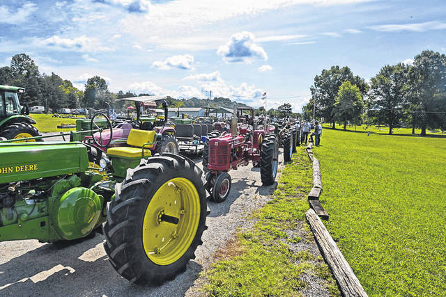 A line up of the tractors that participated in last year's Tractor Parade and Show at the West Virginia State Farm Museum.