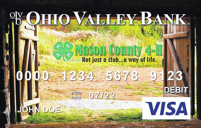 Ohio Valley Bank's Mason County 4-H debit card.