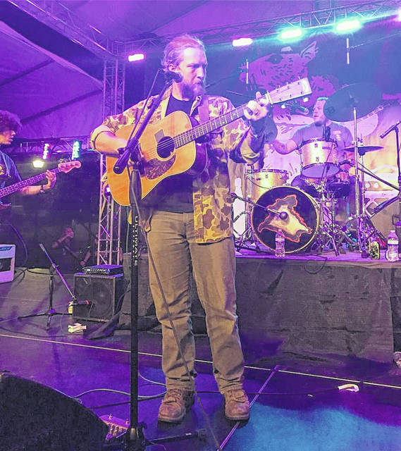 Tyler Childers performed at the first River Rat Festival in 2017 at Gallipolis City Park.