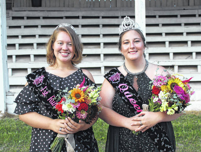 Gabrielle Beeler (right) was crowned the 2019 Meigs County Fair Queen on Sunday evening as part of the opening ceremony for the 156th Meigs County Fair. Raeven Reedy (left) was crowned the 2019 Meigs County Fair Queen First Runner-Up. More on the opening ceremonies and the crowning of the 2019 Meigs County Fair Queen will appear in the Tuesday print edition of The Daily Sentinel and online at mydailysentinel.com