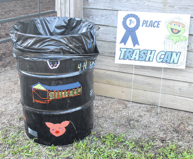 Each year the county's 4-H Clubs take time to paint the trash barrels which are placed around the Meigs County Fairgrounds as a design competitions. The winners of the 2019 Meigs County Fair Trash Barrel Painting contest were as follows: 1st place, Vital Ventures; 2nd place, Busy Beavers; and 3rd place, Country Pioneers.