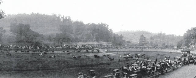 Meigs County Fair race track around 1900.