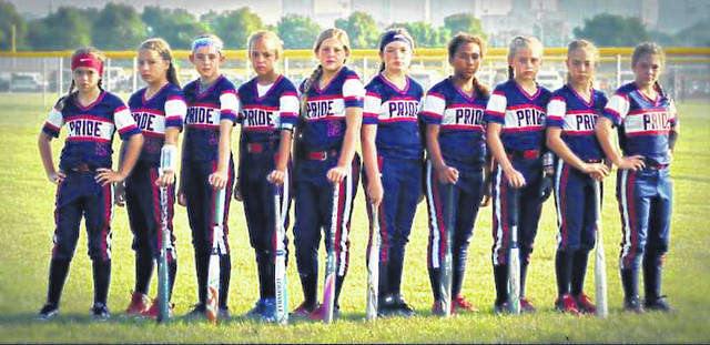 Team members were (left to right) Aedre Ault, Bella Roush, Jaylynn Hupp, Alie Hysell, Ava Horn, Taylor Roberts, Jaynna Wright, Ashlynn Thomas, Chloe Patrick, and Rylie White.