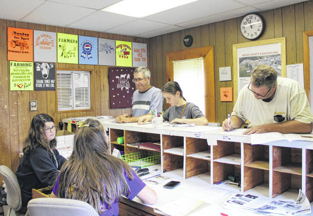 Nearly 3,500 entries were registered for the contests at the 156th Meigs County Fair during registration days last weekend.