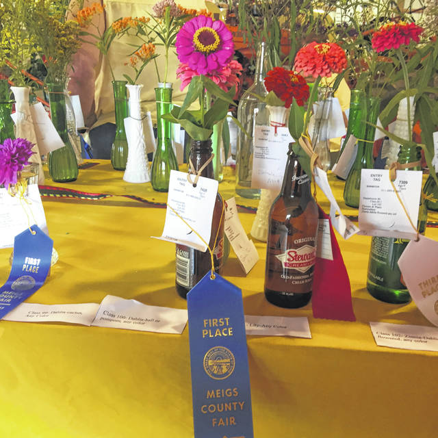 Horticulture and floral displays will be set up in the Thompson Roush Building during the Meigs County Fair, with shows set to take place on Monday and Thursday.