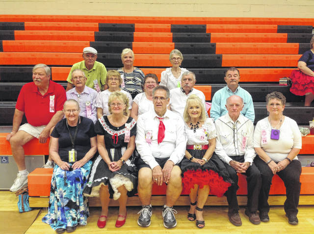 """July 26-27, 15 members from the local square dance clubs, pictured, attended the West Virginia Square Dance Convention in Buckhannon, W.Va. Attending from Jackson Wagonwheelers - Bob and Connie McCoy, Dick and Becky Jaycox. From Dancers Choice - Bob and Phyllie Vogel. From the Belles and Beaus - Nan Hieskell, Sandra Lane, Ronnie and Rosemary Vance, Sue Tuttle, Jim Stewart, Willie and Donna Shaw. Caller for the Belles and Beaus and Dancers Choice clubs is Roger Steele. The trip was described by dancers as a weekend of """"fun, exercise and socializing."""" According to club members, beginning square dance lessons begin in September for anyone with an interest in doing this healthy and """"fun"""" exercise."""