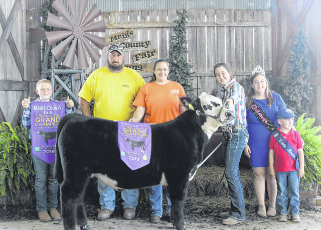 The Grand Champion Beef Feeder shown by MacKenzie Newell was purchased by Ohio Valley Plumbing and Reed and Baur Insurance for $4,400.